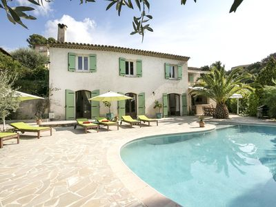 Photo for COTE D'AZUR between Nice and Cannes, GREAT VILLA 250 m2 COASTAL SWIMMING POOL FRENCH RIVIERA