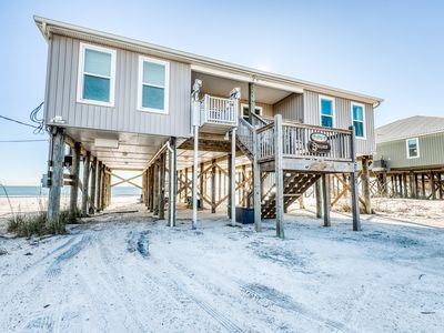 Photo for Gulf - front house w/ beach access, free WiFi, and central location!