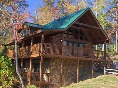 Photo for Highly Rated Cabin in Perfect Location. Clean, Clean and Comfy!