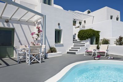 Terrace with private plunge pool
