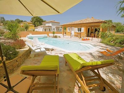Photo for Air-conditioned villa with private pool in fishing village (sleeps 8)