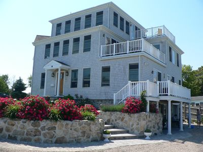 Front of House and Three Decks Facing the Beach