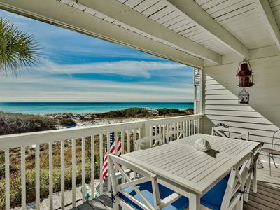 Photo for ADORABLE NEW GULF FRONT LISTING, 4BR, Sleeps 10 w/heated comm. pool & hot tub.