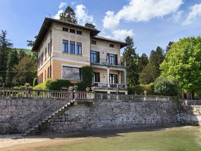 Photo for Delightful lakefront villa only a short walk from the village center of Baveno