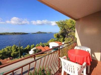 Photo for One bedroom apartment with balcony and sea view Prižba, Korčula (A-9227-c)