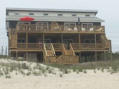 Photo for Oceanfront. New Enlarged Deck. Great for families!