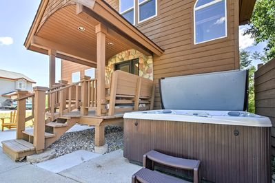Take advantage of the entertaining patio and private hot tub.
