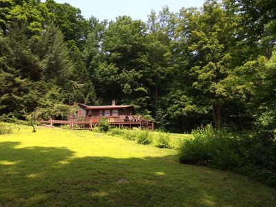 Photo for Comfy, Rustic Cottage 4 Acres of Woods, Brook & River