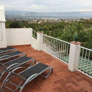 In town, with beautiful views over orange grove,easy walk to good restaurants