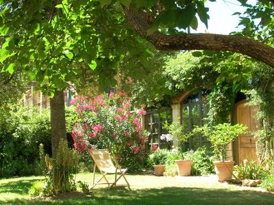 Photo for old orangerie restored in garden, center of Aix en Provence