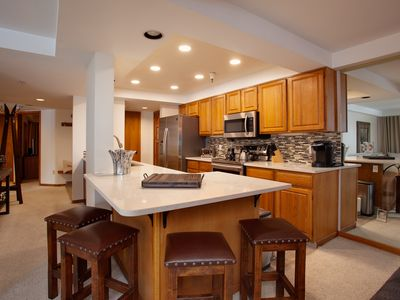 Photo for STUNNING 2 BEDROOM/2 BATH WITH VIEWS OF THE SLOPES- UPDATED KITCHEN/LIVING AREA