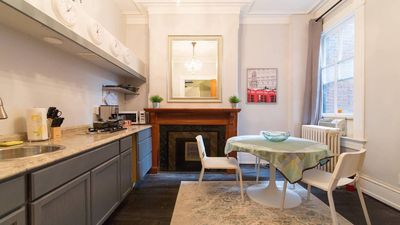 Photo for Renovated 1 Bedroom Apartment in Luxury Historic Rowhome, Parking, Keyless Entry