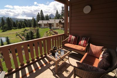 Trust me, you will love sitting on this deck enjoying the sun and having a BBQ.