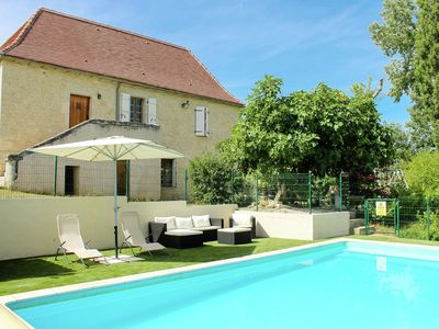 Photo for Restored farmhouse with heated private pool, set in beautiful countryside.
