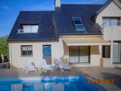 Photo for House for 12 persons close to the beach with a warmed up pool