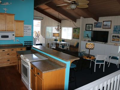 Photo for Steps to the beach! Ocean View Deck! Sleeps10 TWO KINGs+Queen+Sofa sleeper+bunks