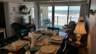 Photo for OCEANFRONT Condo W/ Private Beach, Heated Pool - Best View - 2 Bedroom & 1 Bath