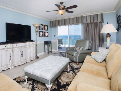"""View the Beach from the Living Room which has a 55"""" TV and BlueRay Player!"""