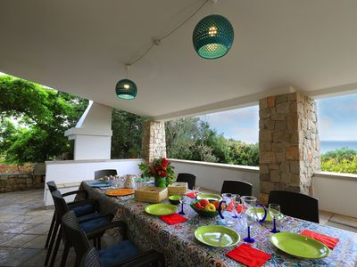 Photo for Wonderful villa with pool between S. Maria di Leuca and Gallipoli with park recintat