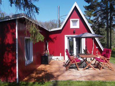 "Photo for Idyllic ""holiday home HYGGE"" vacation right on the field, forest and lake!"