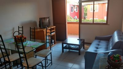 Photo for FLAT WITH 3 BEDROOMS IN GUARAJUBA, AT THE BEACHFRONT