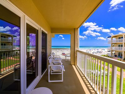 Photo for C214 Fabulous location! 2/2 condo on the beach, just steps from coveted Flagler Avenue