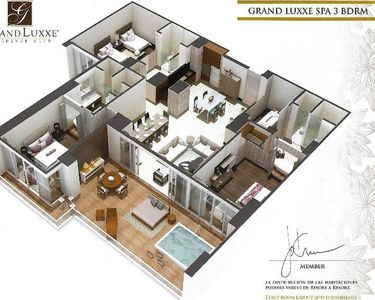 Photo for Luxury Grand Luxxe 3 Bedroom Spa Riviera Maya
