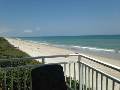 View from our 3rd floor Balcony on the beach
