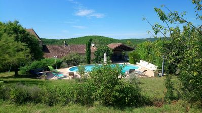Photo for Authentic house of quercy with swimming pool and beautifull view
