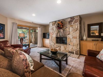 Photo for FREE SKI RENTAL! Updated 1st Floor Unit w 2 Master Suites, Walk to Skiing - 150 Yards to Lift & Bus