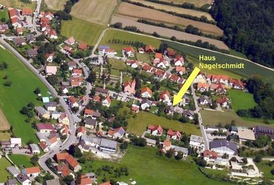 Aerial view of Schwend, eastern part