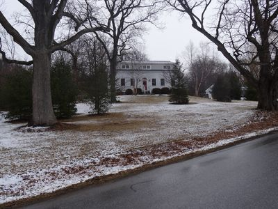 "Street view, a little snow and the ""old oaks"""