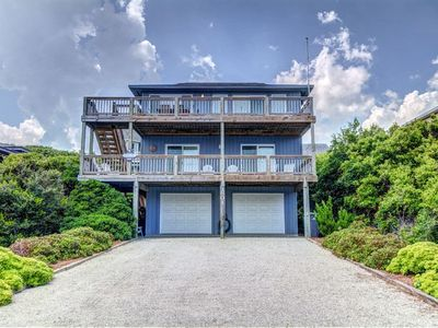 Photo for BACK A BIT: 4 BR / 3 BA second row with ocean views in Surf City, Sleeps 8