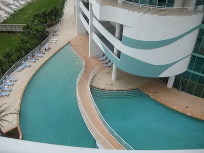 .View from balcony of main pool