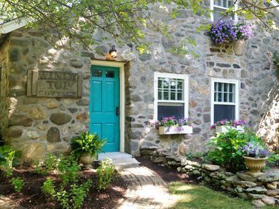 A European Country Getaway ~ 1930s Stone Cottage In Connecticut!
