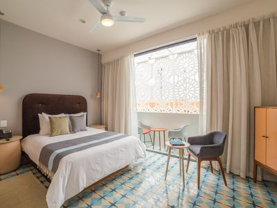 Photo for 1 Bedroom Near Beach with Balcony - Rooftop Pool & Free Breakfast