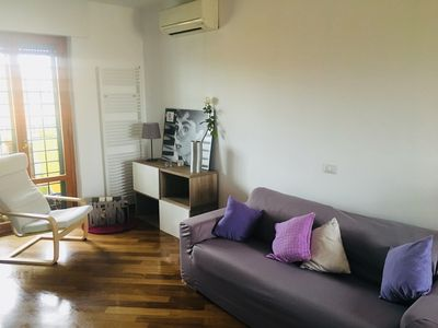 Photo for Bright apartment, completely renovated, central, on monument metro line A
