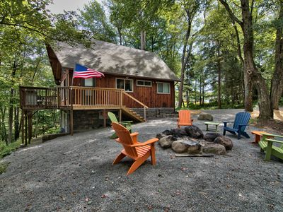 Photo for Lake Front Chalet in the High atop the Pocono Mountains