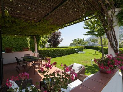 Photo for Il Giardino di Ravello is lovely apartment in the heart of Ravello, with private garden, amazing vie