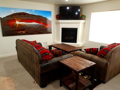 Photo for Desert Getaway features 3 bed, 2.5 bath, 2 car garage & close to pool! Condo 5A7