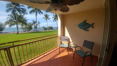 Private balcony overlooking the beach