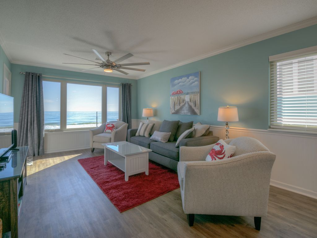 Direct oceanfront updated 3 br condo in surfside beach sc beautiful views surfside beach for 3 bedroom condo myrtle beach sc