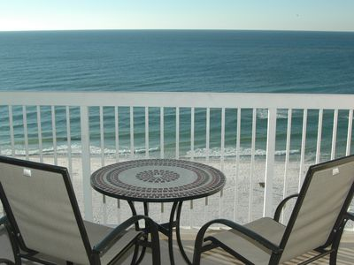 Photo for Full Gulf View from Private Balcony, Jetted Tub in Master Bath