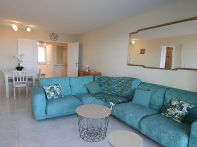 Photo for Carras: beautiful 2 beds flat, terrace, sea view, garage