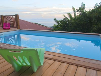 Photo for NEW New studio at the bottom of the villa, sea view and pool, 5 min from the beaches