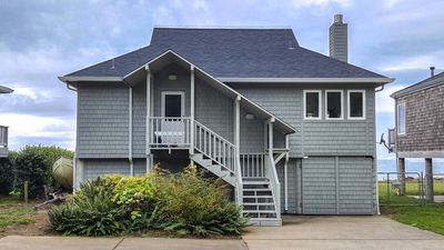 Photo for Beachfront home with private yard and Unbeatable Bay and Ocean views!