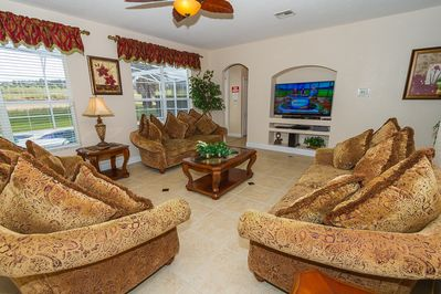 The Family Room with new 60' LED Smart Television