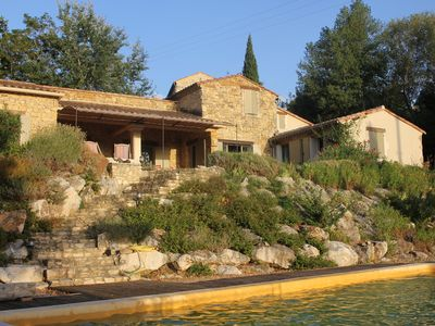 Photo for Provence stone house, private pool, fantastic view, calm