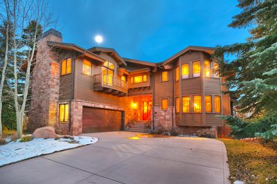 Front of house- 7,400 square feet in gated community