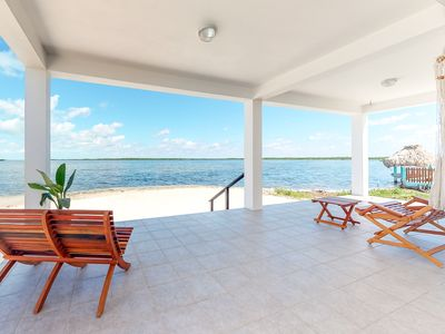 Photo for Waterfront home with private lanai & hammock in quiet area and w/ great views!
